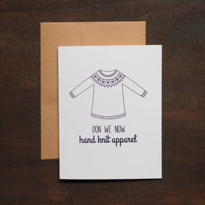 Hand Knit Apparel Holiday Card