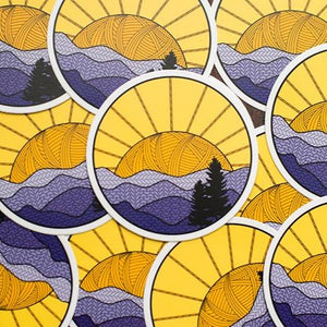 Shenandoah Knitional Park Knitted Mountains Vinyl Sticker