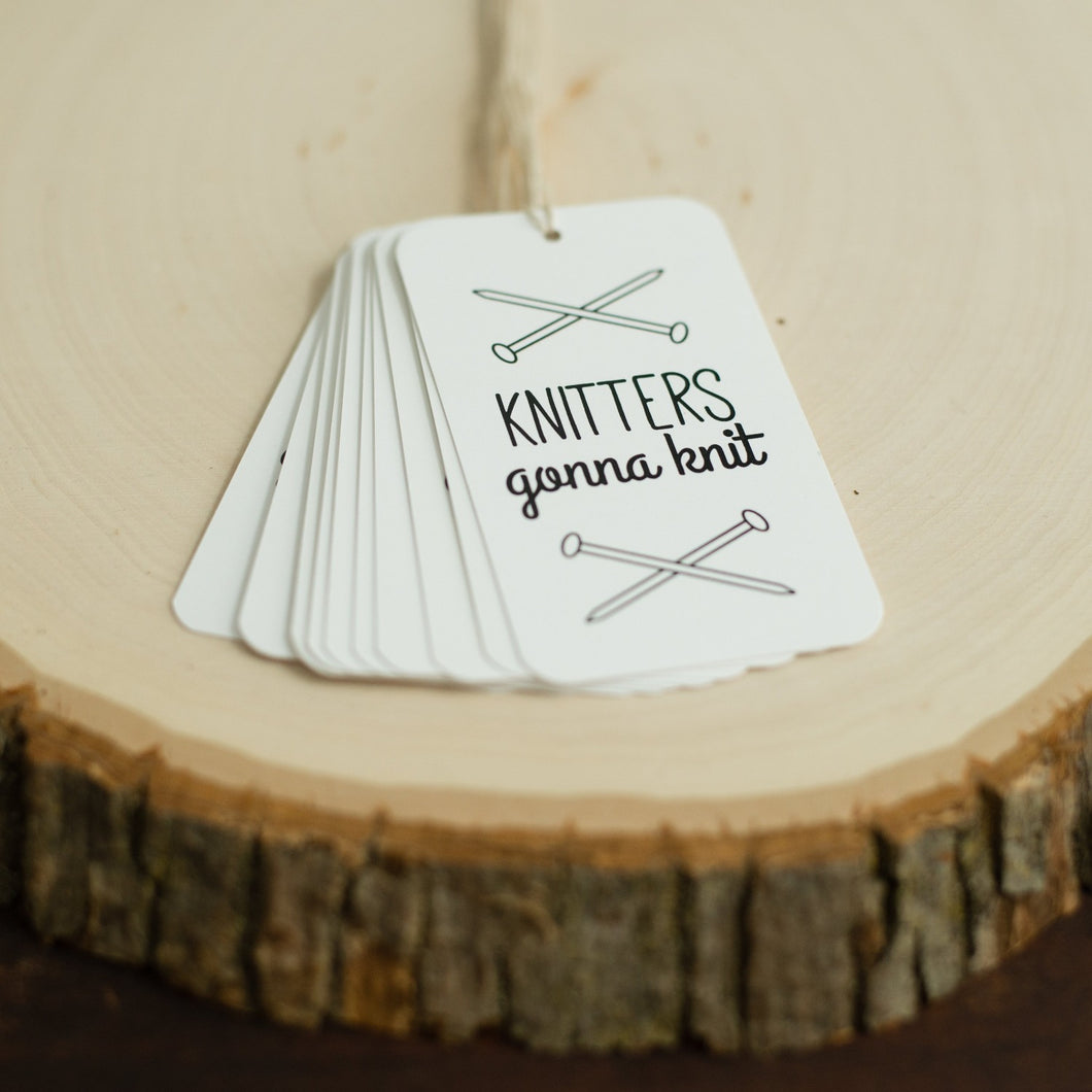 Knitters Gonna Knit Gift Tags