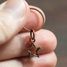 antique copper star stitch markers for knitting