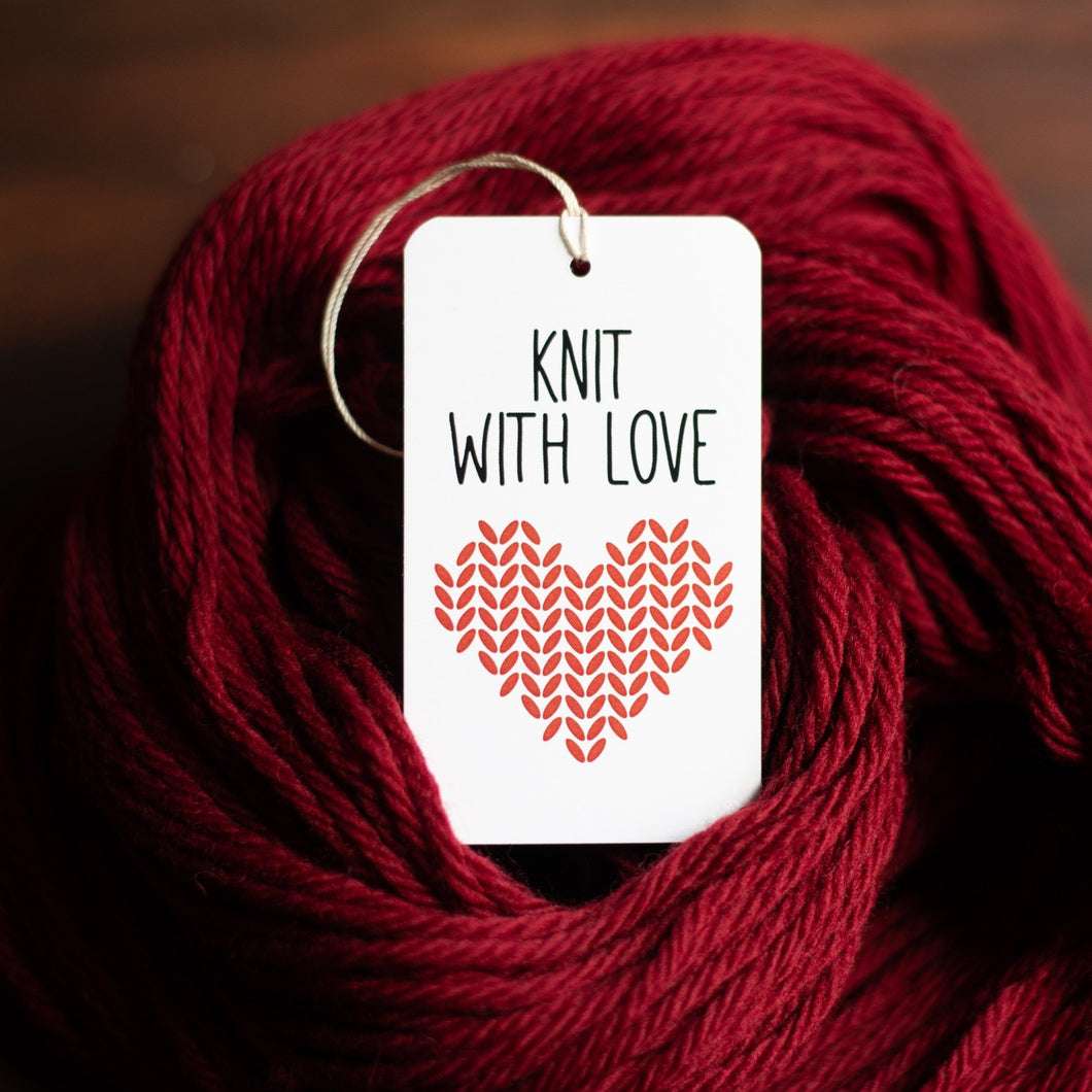 Knit with love gift tags for knitters