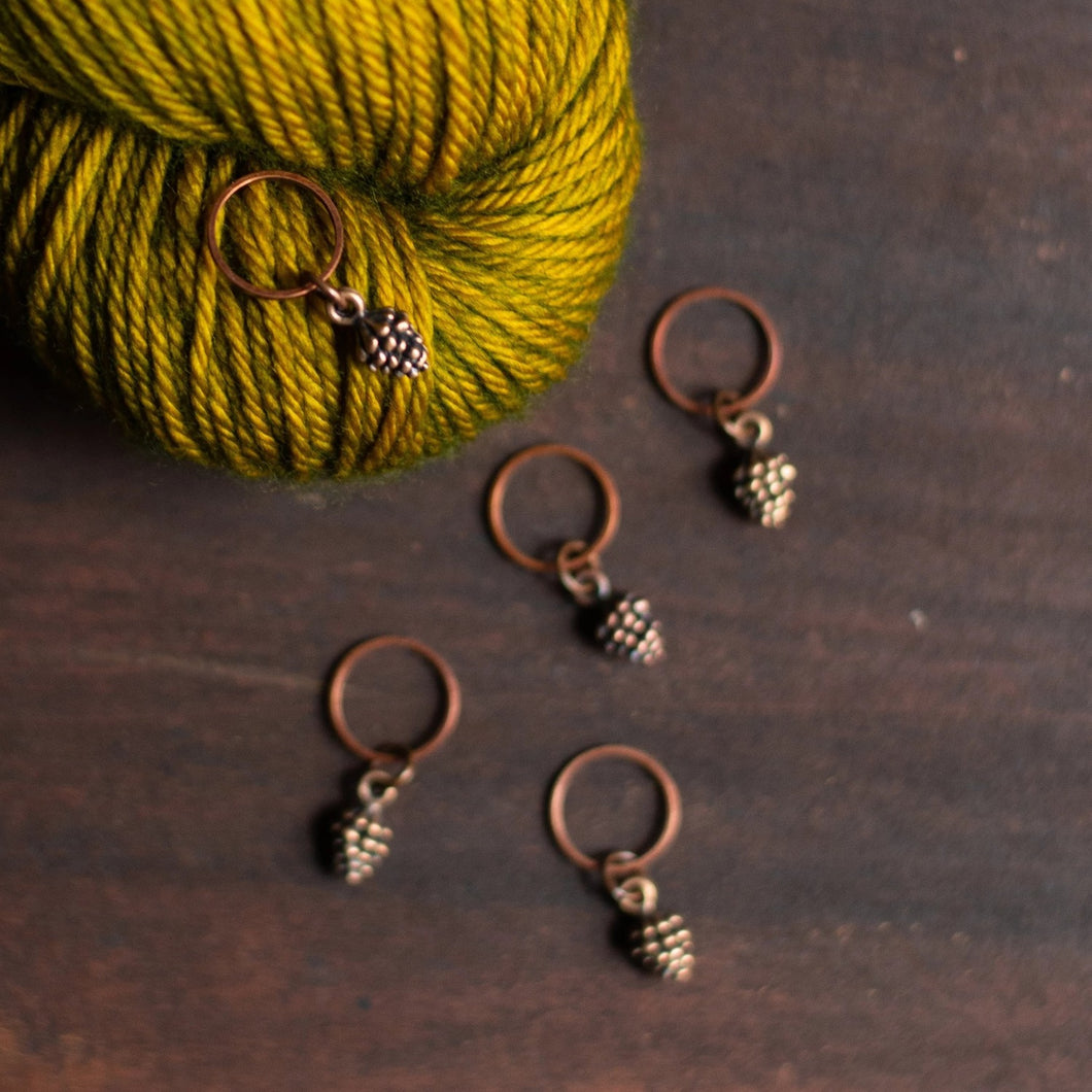 Pinecone Stitch Markers