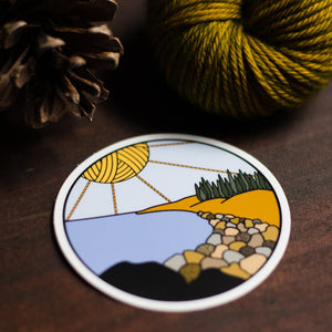 Acadia National Park Knitting Sticker by adknits