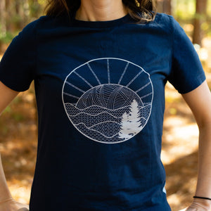 knitted mountains women's tshirt