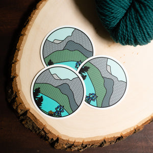 Glacier Knitional Park - National Park Knitting Sticker