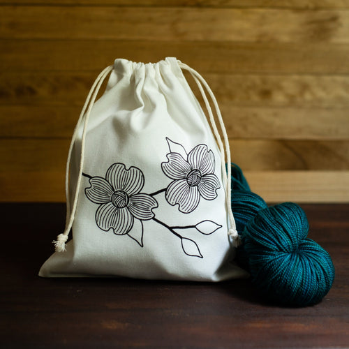 Dogwood Branch Small Cotton Project Bag