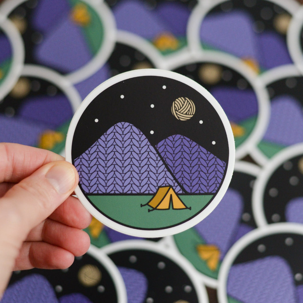 Camping Vinyl Knitting Sticker
