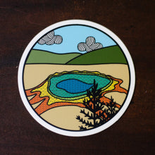 Yellowstone National Park Knitting Sticker