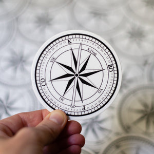 Compass knitting sticker