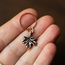 maple leaf fall stitch markers