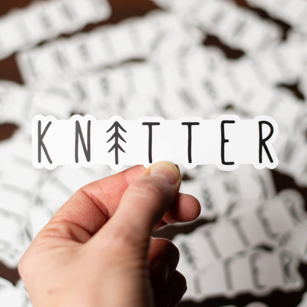 Tree Knitter Sticker