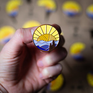 yarn enamel pin for knitters