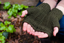 Fingerless mitten knitting pattern