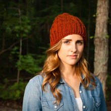 slouchy cable beanie knitting pattern