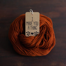 Gift tags for knitters and makers, kraft brown funny gift tags