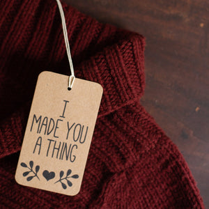 Knitting, crocheting, and crafting gift tags for handmade gifts