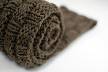 infinity scarf knitting pattern with basket weave texture