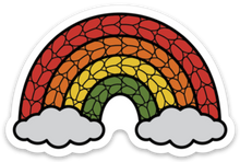 Rainbow Vinyl Knitting Sticker