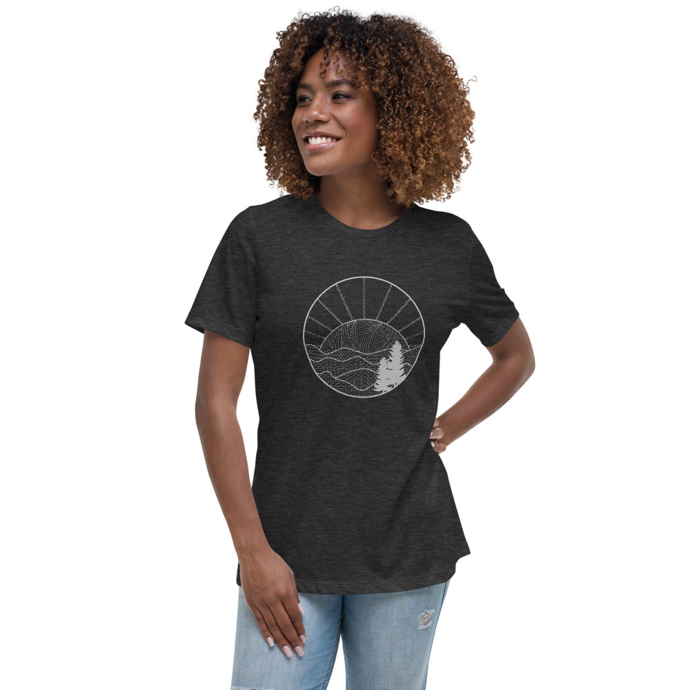 Knitted Mountains T-Shirt, Women's Short Sleeve