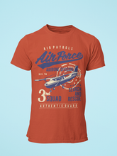 Air Force - Men's Half Sleeve T-Shirt - Brick Red