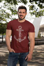 Anchor - Men's Half Sleeve T-Shirt - Maroon