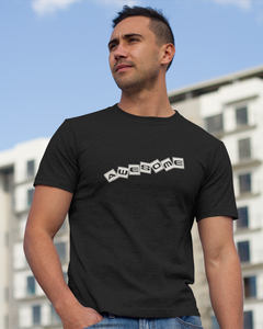 Awesome - Men's Half Sleeve T-Shirt - Black