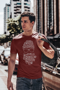 Birds Beard - Men's Half Sleeve T-Shirt - Maroon