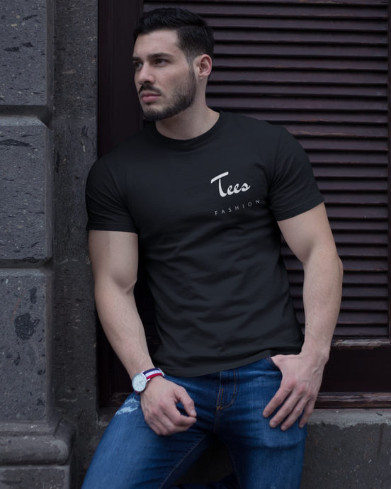 Tees Fashion - Men's Half Sleeve T-Shirt - Black