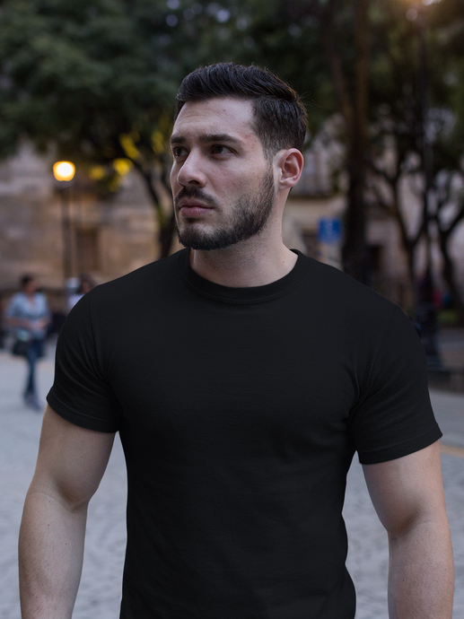 Plain - Men's Half Sleeve T-Shirt - Black