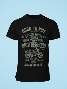 Born To Ride - Men's Half Sleeve T-Shirt - Black
