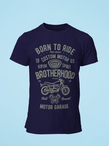 Born To Ride - Men's Half Sleeve T-Shirt - Ink Blue