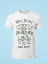 Born To Ride - Men's Half Sleeve T-Shirt - White