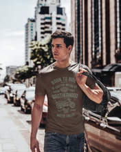 Born To Ride - Men's Half Sleeve T-Shirt - Brown