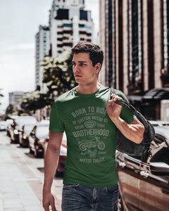 Born To Ride - Men's Half Sleeve T-Shirt - Green