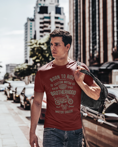 Born To Ride - Men's Half Sleeve T-Shirt - Maroon