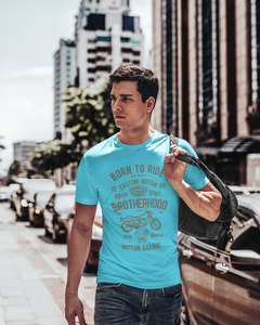 Born To Ride - Men's Half Sleeve T-Shirt - Blue