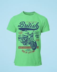 British Ride - Men's Half Sleeve T-Shirt - Kiwi Green