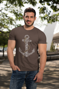 Anchor - Men's Half Sleeve T-Shirt - Brown