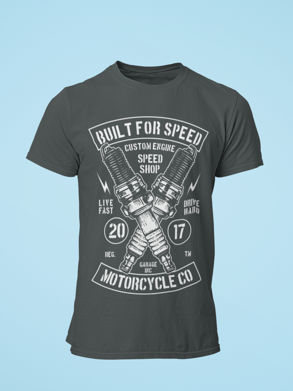 Built for Speed - Men's Half Sleeve T-Shirt - Steel Grey
