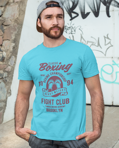 Classic Boxing - Men's Half Sleeve T-Shirt - Blue