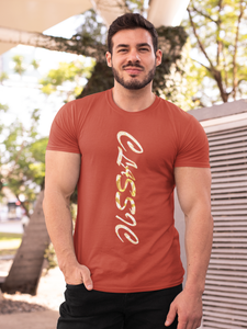 Classic Gold - Men's Half Sleeve T-Shirt - Brick Red