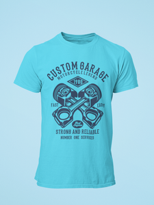 Custom Garage - Men's Half Sleeve T-Shirt - Blue