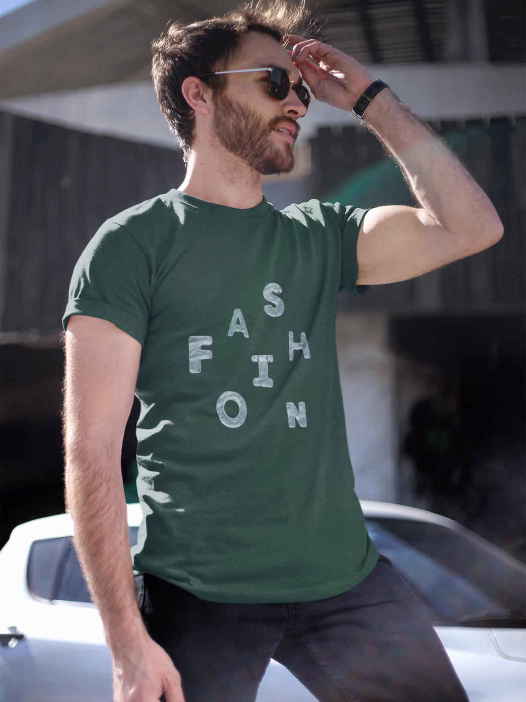 Fashion - Men's Half Sleeve T-Shirt - Green