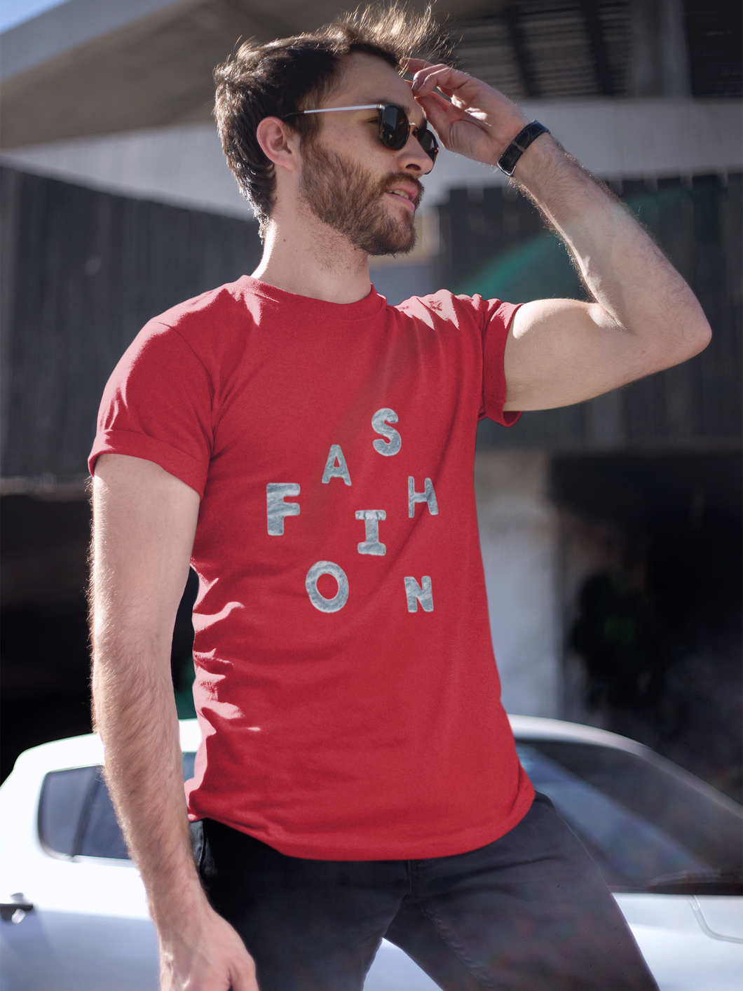Fashion - Men's Half Sleeve T-Shirt - Red