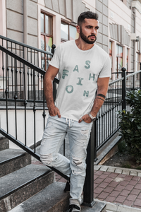 Fashion - Men's Half Sleeve T-Shirt - White
