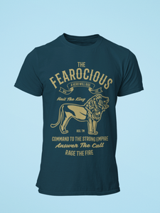 Fearocious - Men's Half Sleeve T-Shirt - Petrol Blue