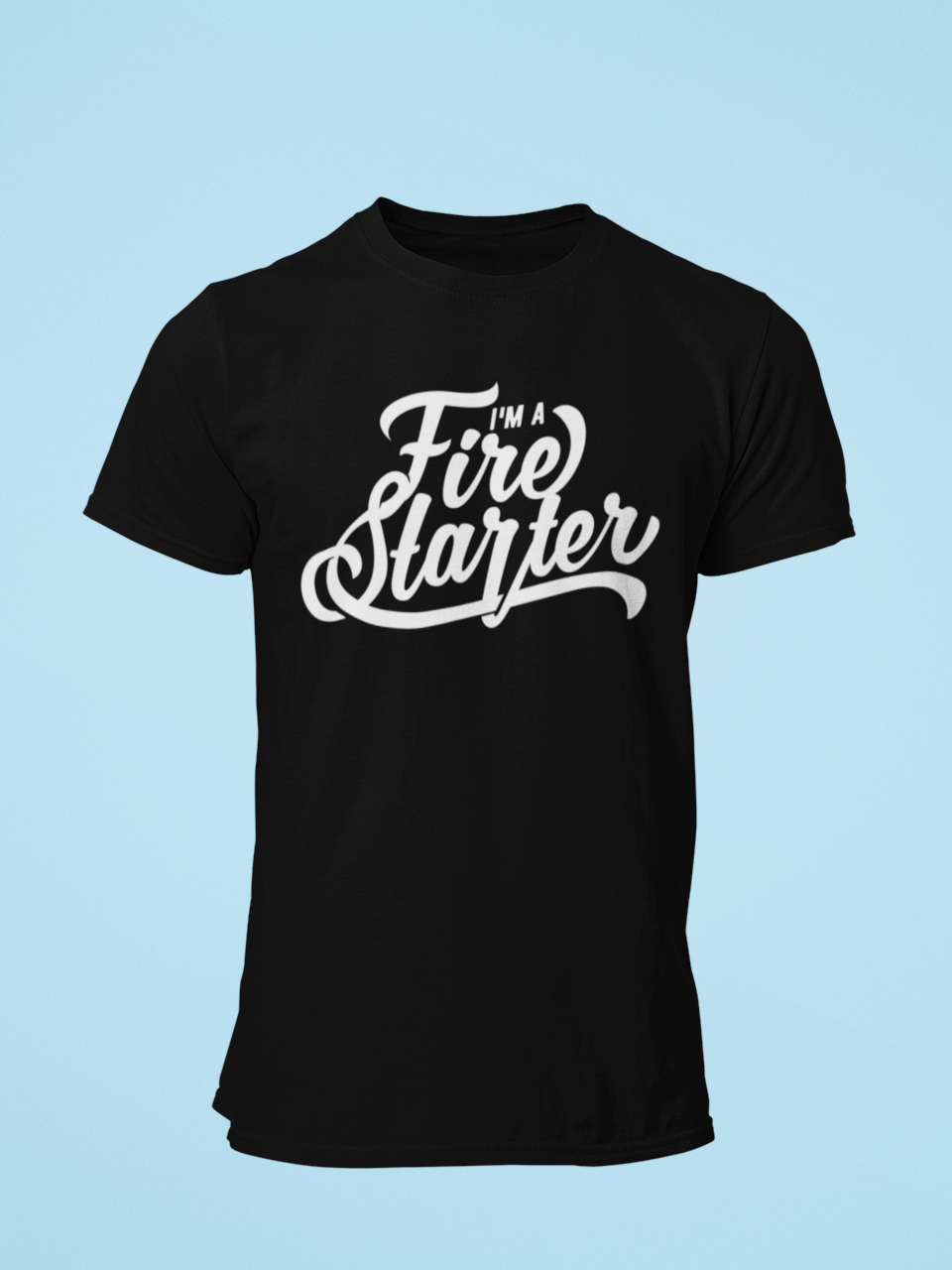 Fire Starter - Men's Half Sleeve T-Shirt - Black