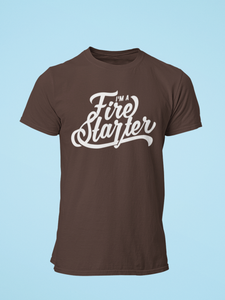 Fire Starter - Men's Half Sleeve T-Shirt - Brown