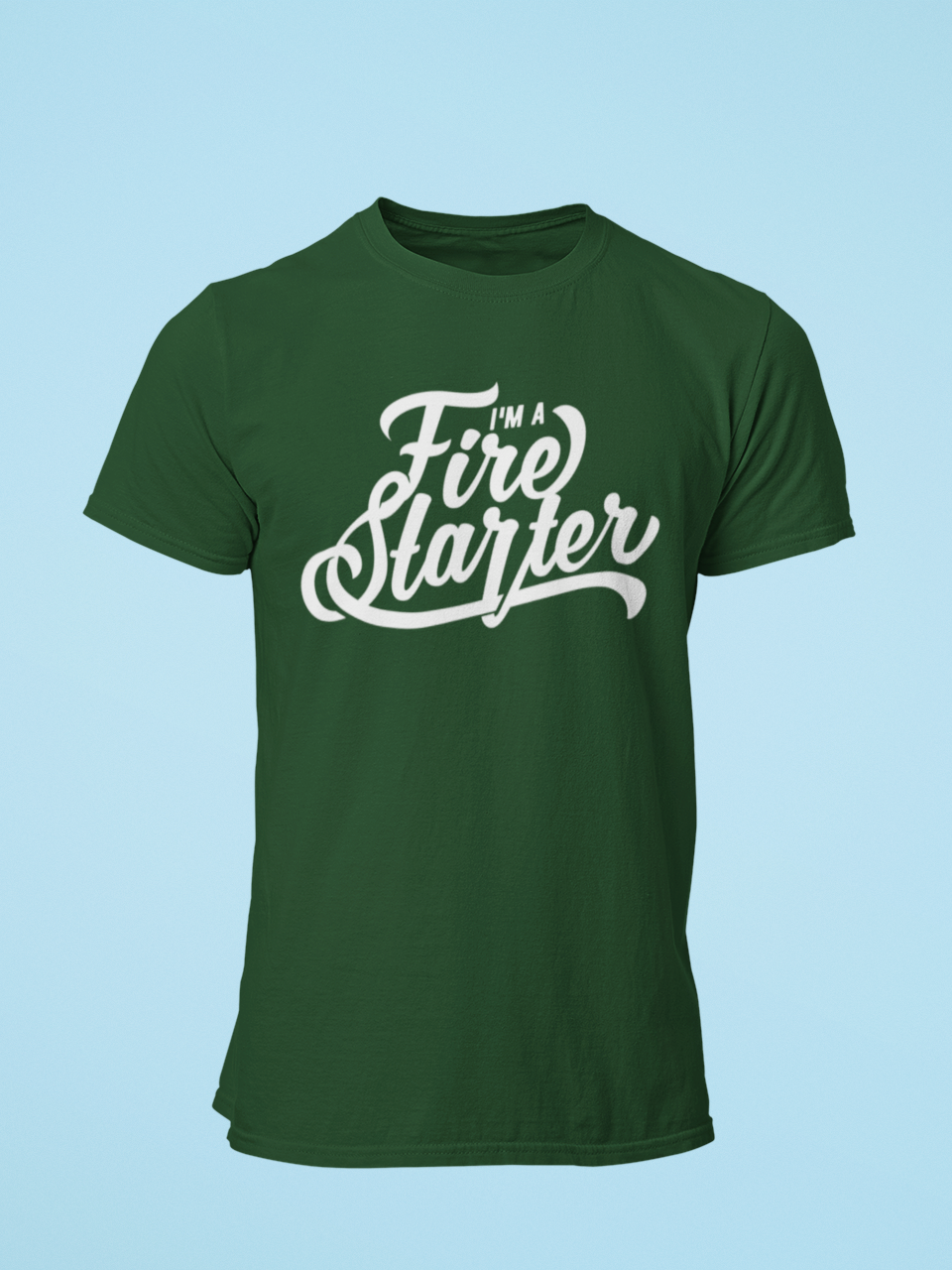 Fire Starter - Men's Half Sleeve T-Shirt - Green