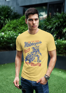 Flat Track - Men's Half Sleeve T-Shirt - Yellow
